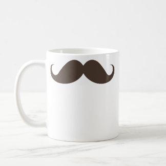 おもしろいな茶色のハンドルバーの髭の口ひげのトレンディー コーヒーマグカップ
