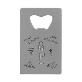 おもしろいな薬のミーム クレジットカード ボトルオープナー
