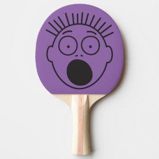 おもしろいな衝撃を与えられ、おびえさせていた顔 卓球ラケット