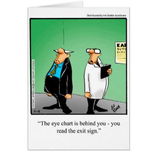 おもしろいな視力検査表のユーモアの挨拶状 カード