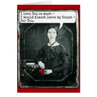 おもしろいな詩人のエミリー・ディキンソンのバレンタインデー カード