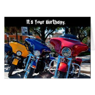 おもしろいな誕生日のハーレー全Hawg (ブタ)のカード カード