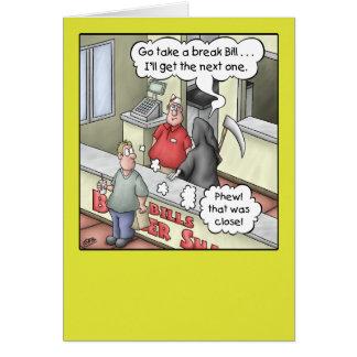 おもしろいな誕生日カード: ハンバーガーの強打2 カード