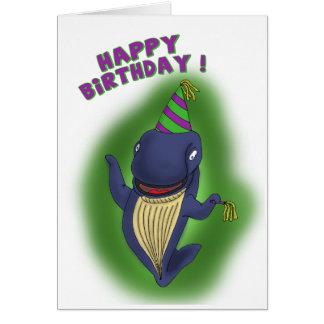 おもしろいな誕生日カード: 誕生日のクジラ カード