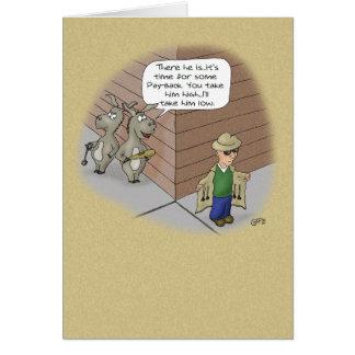 おもしろいな誕生日カード: 誕生日の尾元金回収 カード