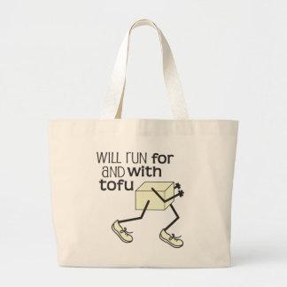 おもしろいな豆腐のランナーの© ラージトートバッグ