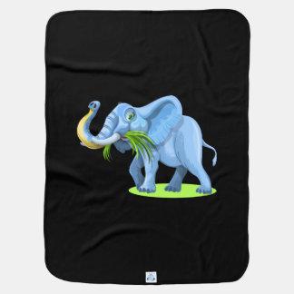 おもしろいな象の漫画 ベビー ブランケット