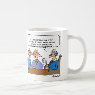 おもしろいな財産の遺言検認弁護士の執行者の漫画 コーヒーマグカップ
