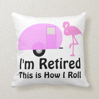 おもしろいな退職のピンクのフラミンゴのレトロのキャンピングカー クッション