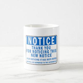 おもしろいな通知 コーヒーマグカップ