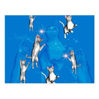 おもしろいな遊ぶ漫画猫 ポストカード