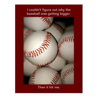 おもしろいな野球の郵便はがき、しゃれ、Postcrossingは遊びます ポストカード