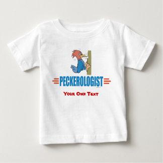 おもしろいな野鳥観察のキツツキ ベビーTシャツ