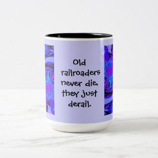 おもしろいな鉄道労働者のマグ ツートーンマグカップ