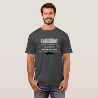 おもしろいな鉛管工の定義および髭 Tシャツ