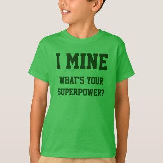 おもしろいな鉱山の賭博のTシャツ Tシャツ