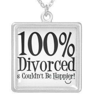 おもしろいな離婚のネックレス シルバープレートネックレス