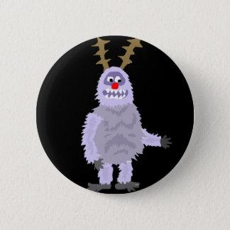 おもしろいな雪男のクリスマスの芸術 5.7CM 丸型バッジ