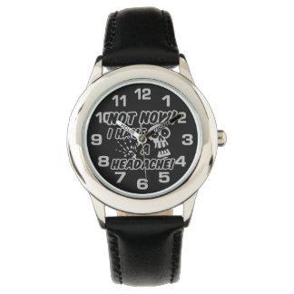 おもしろいな頭痛のスカルの腕時計 腕時計