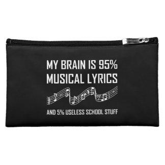 おもしろいな頭脳の音楽的な叙情詩 コスメティックバッグ