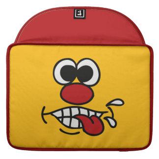 おもしろいな顔のカスタムなMacBookの袖 MacBook Proスリーブ