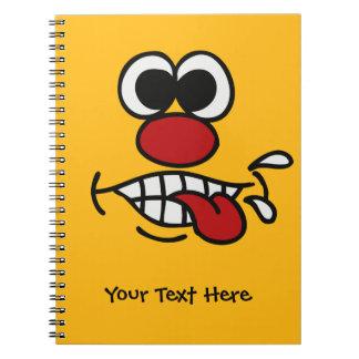 おもしろいな顔のカスタムのノート ノートブック