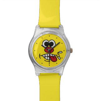 おもしろいな顔のカスタムの腕時計 腕時計