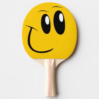 おもしろいな顔の卓球のかい ピンポンラケット