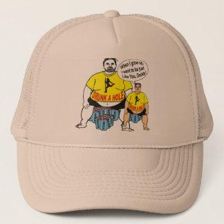 おもしろいな飲まれた父及び息子の帽子 キャップ