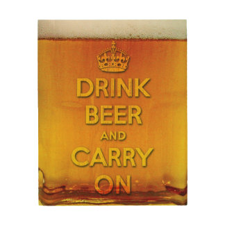 おもしろいな飲み物ビールは続けていき、 ウッドウォールアート