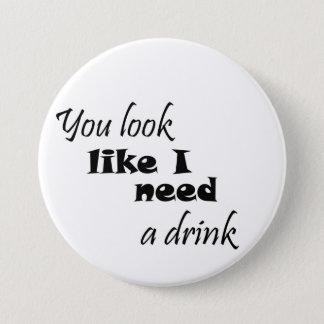 おもしろいな飲むギフトのワインのギフトは冗談ボタンに調子を合わせます 7.6CM 丸型バッジ