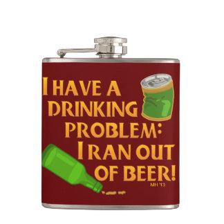 おもしろいな飲むビール フラスク