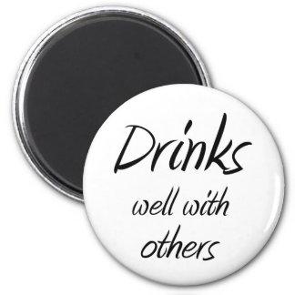おもしろいな飲む引用文の冗談のノベルティの冷蔵庫用マグネット マグネット