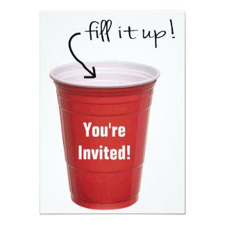 おもしろいな飲む空のコップの酒宴のパーティー カード