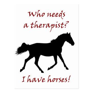 おもしろいな馬のセラピスト ポストカード