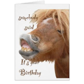 おもしろいな馬のバースデー・カード カード