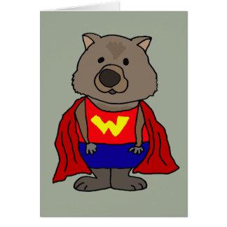おもしろいな驚異のWombatのスーパーヒーローの漫画の芸術 カード