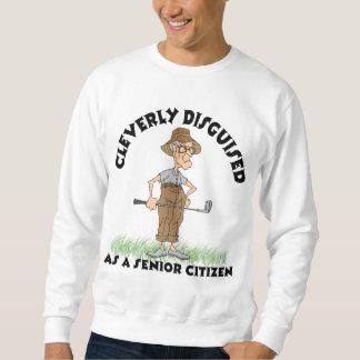 おもしろいな高齢者のゴルファーのTシャツ スウェットシャツ