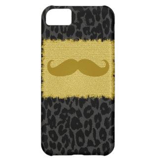 おもしろいな髭およびヒョウのプリント2 iPhone5Cケース