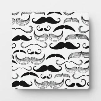 おもしろいな髭のデザイン フォトプラーク