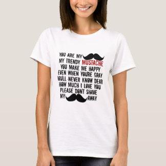 おもしろいな髭の口ひげの歌 Tシャツ