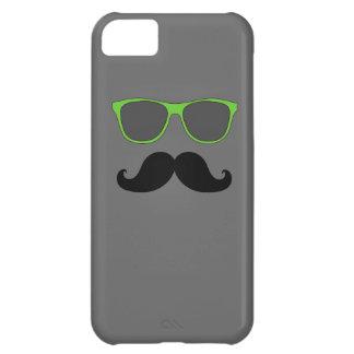 おもしろいな髭の緑のサングラス iPhone5Cケース