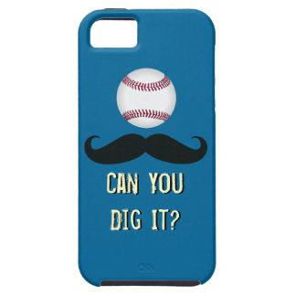 おもしろいな髭の野球のiPhone 5の場合 iPhone SE/5/5s ケース