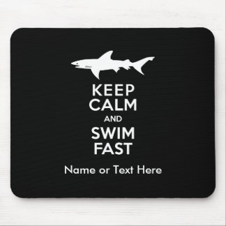 おもしろいな鮫の警告-平静を保ち、速く泳いで下さい マウスパッド