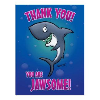 おもしろいな鮫は郵便はがき感謝していしています ポストカード