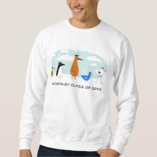 おもしろいな鳥はカスタマイズ可能な文字と卒業します スウェットシャツ