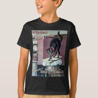 おもしろいな黒猫のヴィンテージのベーキングパウダーポスター広告 Tシャツ
