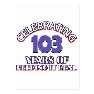 おもしろいな103rd誕生日のデザイン ポストカード
