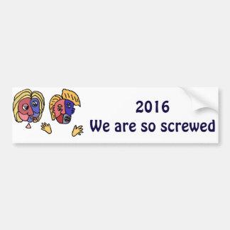 おもしろいな2016年の選挙の欲求不満の漫画 バンパーステッカー
