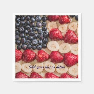 おもしろいな7月4日アメリカ米国の旗ののどのフルーツ スタンダードカクテルナプキン